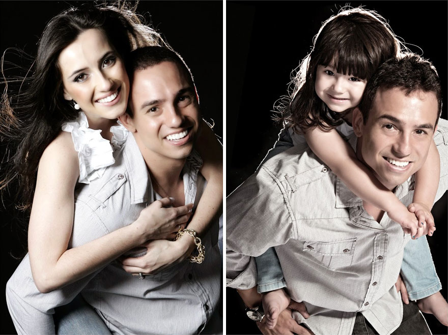 Ojciec i jego 3-letnia córką odtworzyli zdjęcia matki, której już nie ma wśród nas
