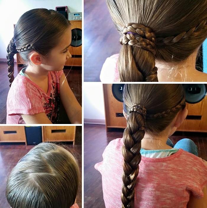Samotny ojciec nauczył się robić fryzury dla swojej córeczki, a teraz uczy innych tatusiów