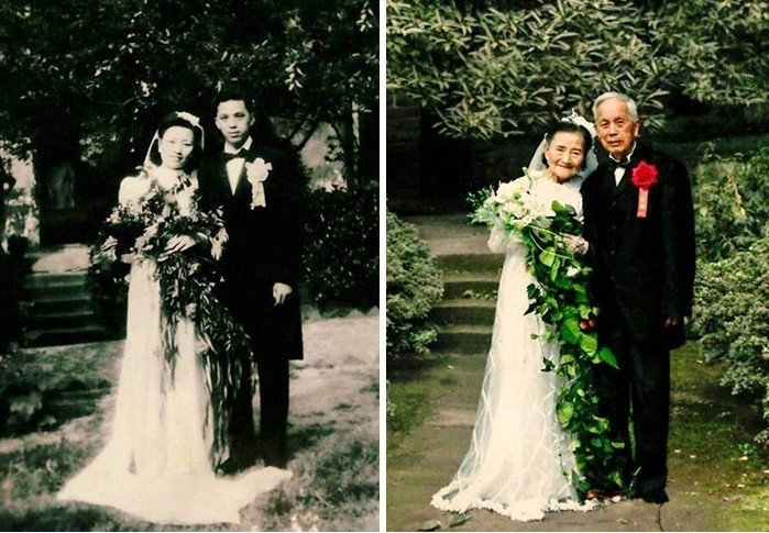 98-letnia para odtworzyła dzień ślubu po 70 latach wspólnego życia