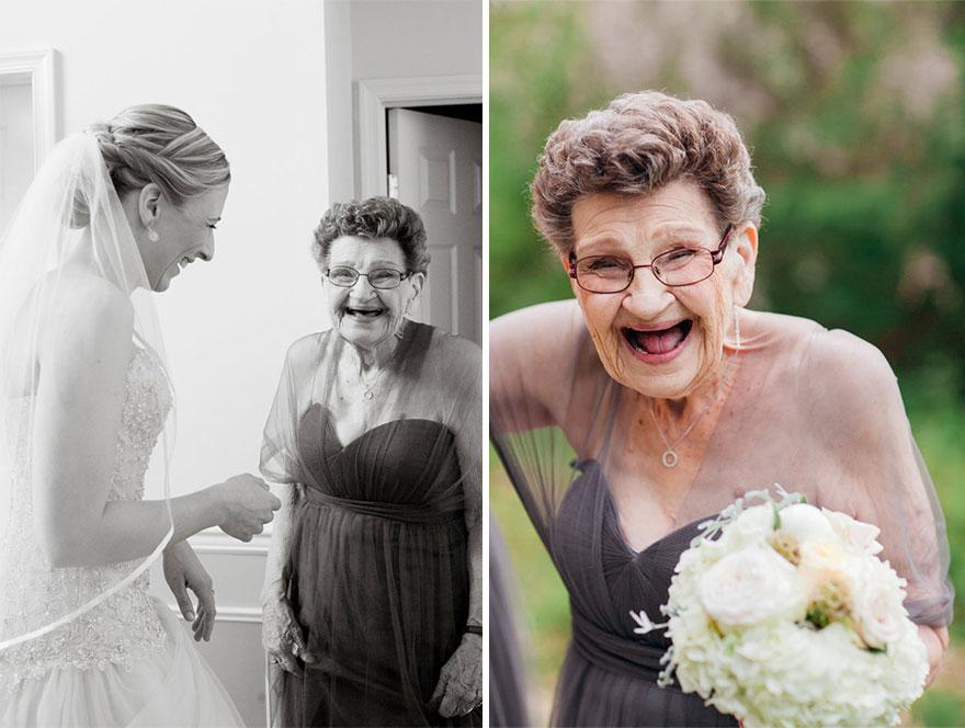Wnuczka poprosiła swoją 89-letnią babcię, aby została druhną na jej ślubie