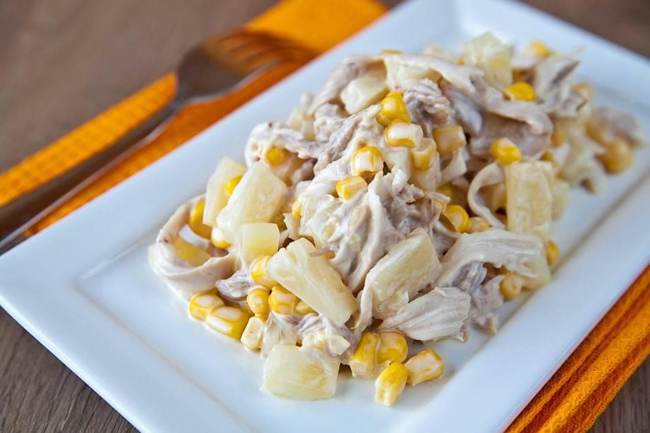 Smaczna i delikatna sałatka z kurczakiem