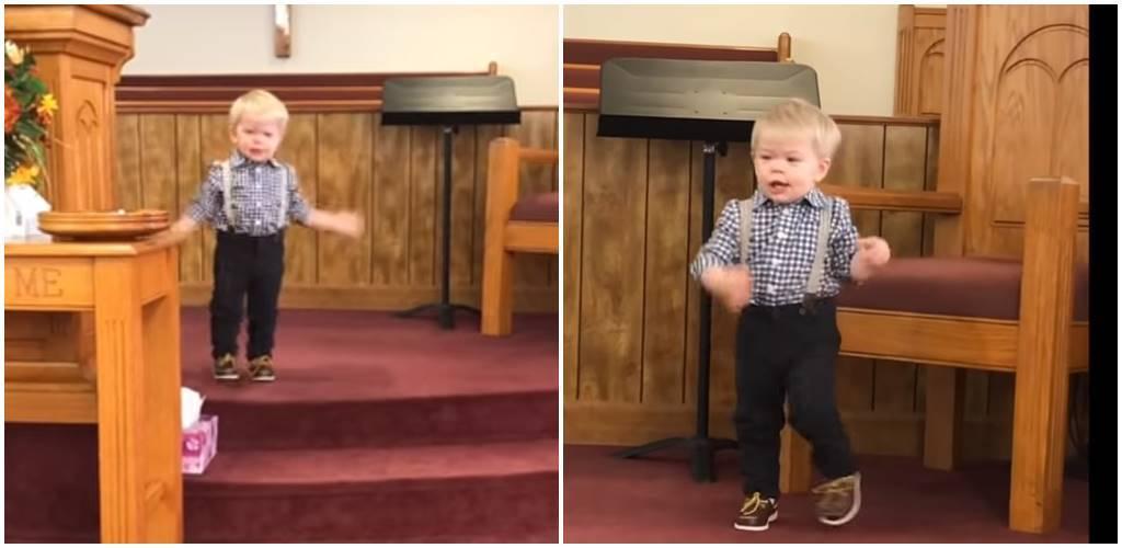 Nagranie stało się hitem w sieci. Zachowanie dwuletniego dziecka w kościele rozkłada na łopatki